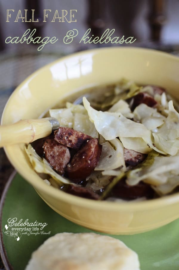 {Fall Soup Recipe} Cabbage & Kielbasa