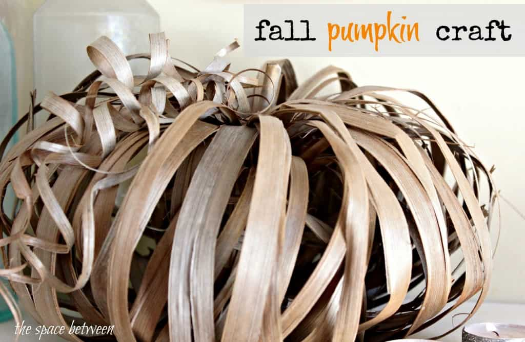 palm frond pumpkin project