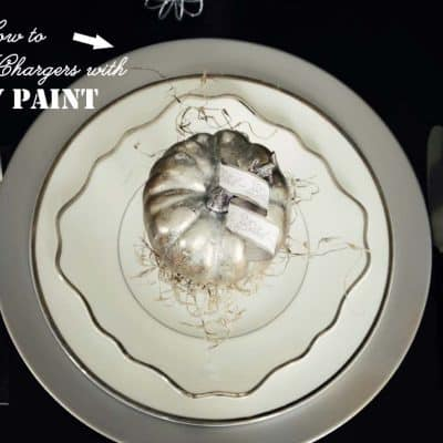 How to spray paint a plastic charger {Tablescape Tips}