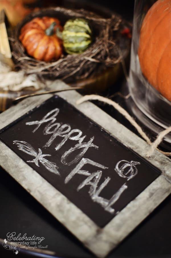 Fall chalkboard sign, mini chalkboard, autumn decor ideas, fall decor ideas