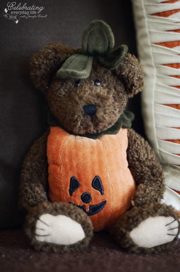 Pumpkin Teddybear, autumn decor ideas, fall decor ideas, country decor