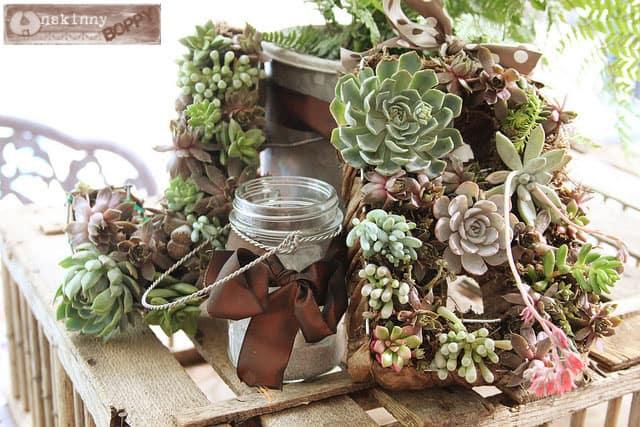 succulent initial wreaths, DIY succulent wreath tutorial