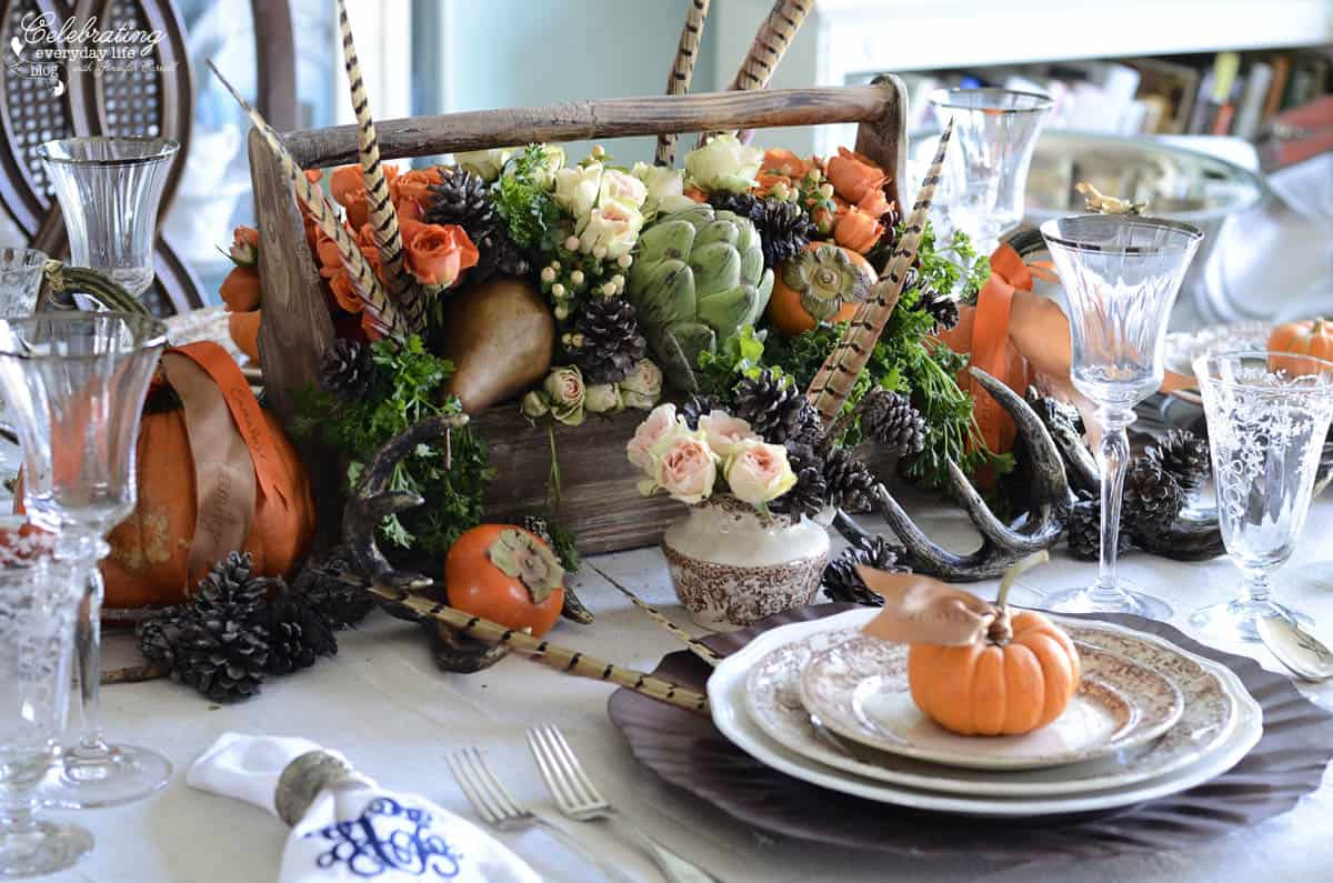 Thanksgiving Diy How To Make Your Own Thanksgiving Centerpiece Celebrating Everyday Life