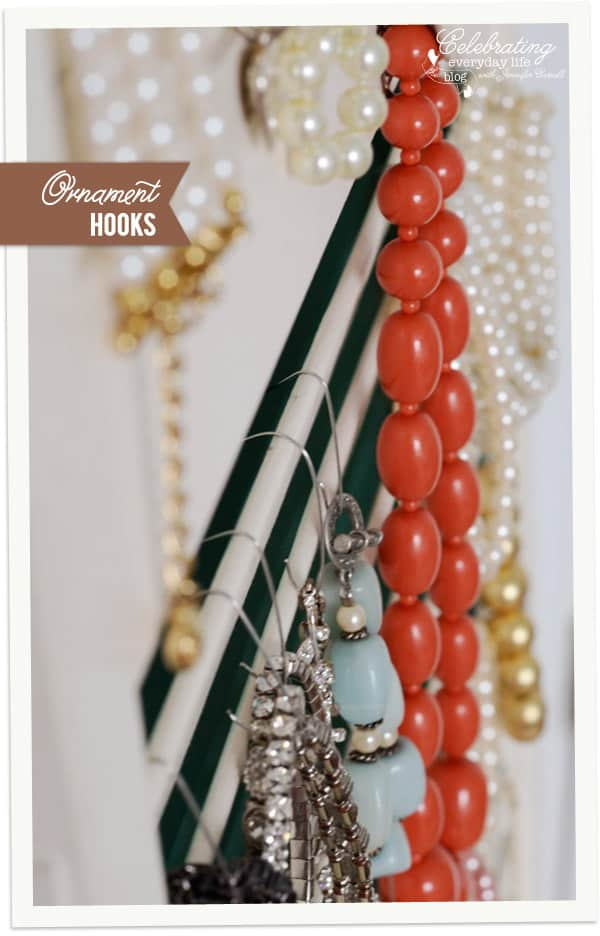 Ornament hooks, organize jewelry with ornament hooks