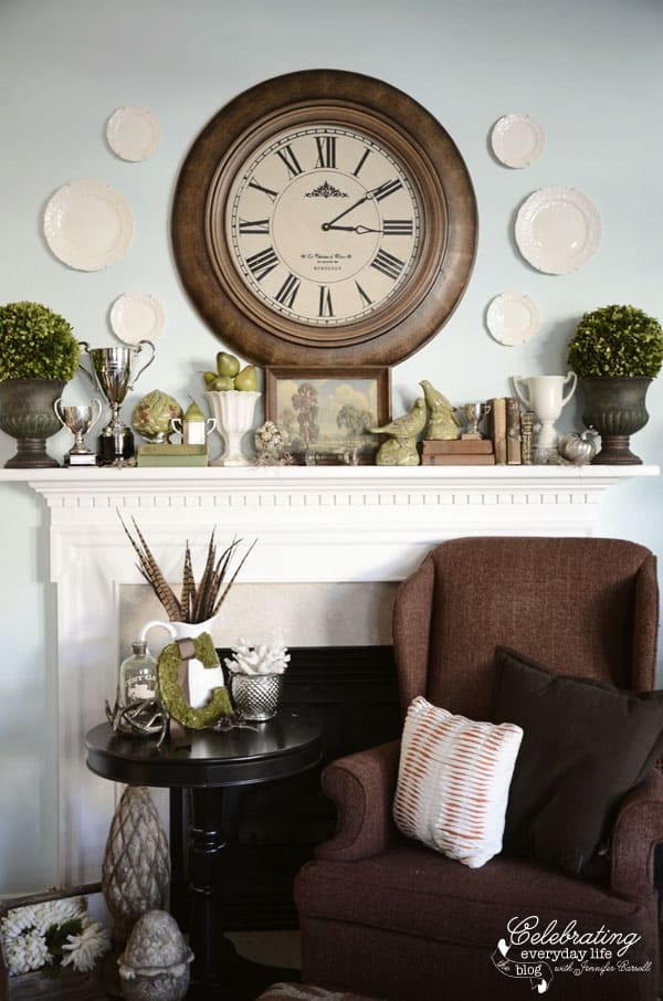 How To Decorate A Mantel my november mantel {how to decorate a mantel series} - celebrating