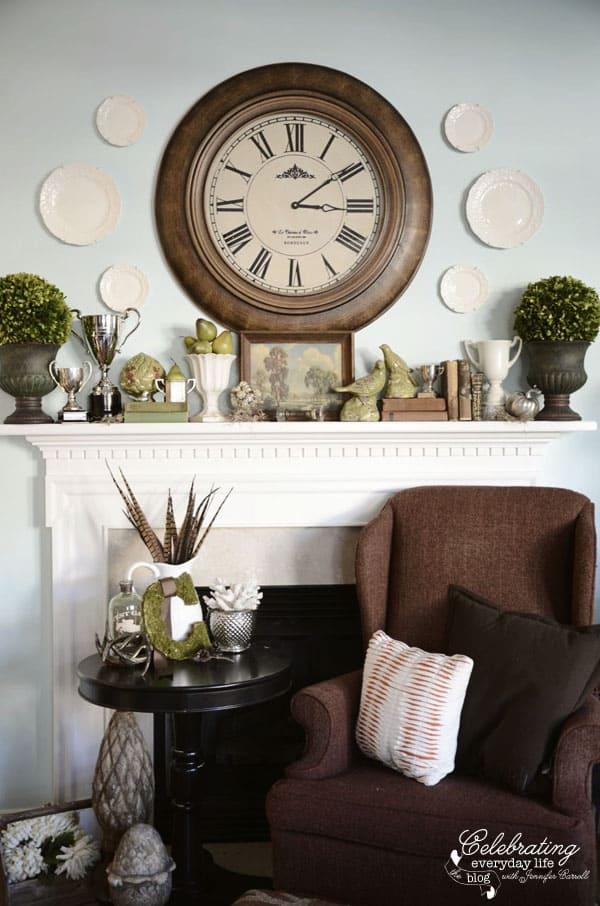 clock mantel how to decorate a mantel mantel decor ideas