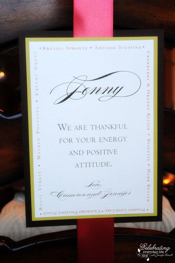 Thanksgiving Crafts, Easy Thanksgiving Menu Idea, Gratitude Card, Gratitude Menu Card Project, Unique Thanksgiving Place card idea