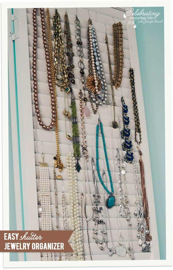 Shutter Jewelry Organizer Celebrating everyday life with