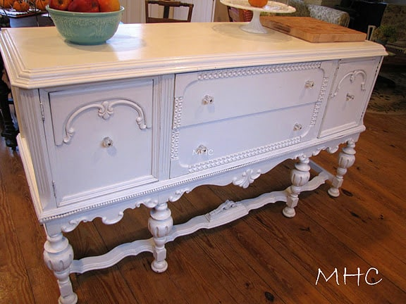 buffet makeover on Mockingbird Hill Cottage blog