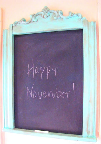 chalkboard sign from Mockingbird Hill Cottage
