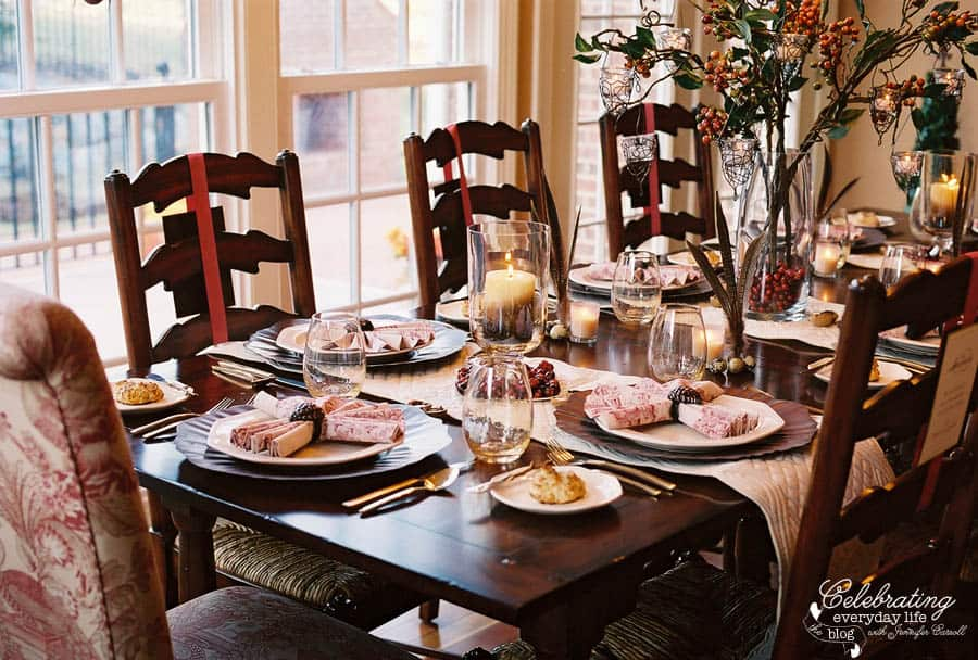 A cranberry inspired thanksgiving celebration for Everyday table centerpieces