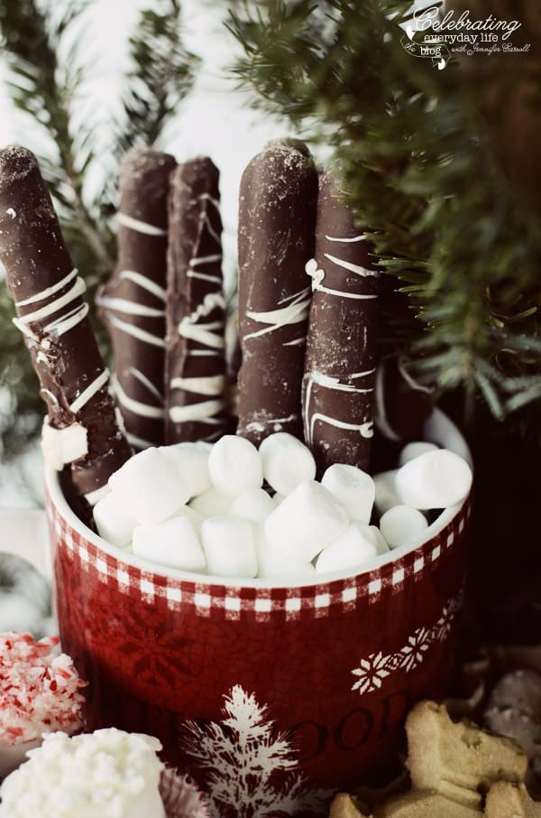 Chocolate Pretzel Rods