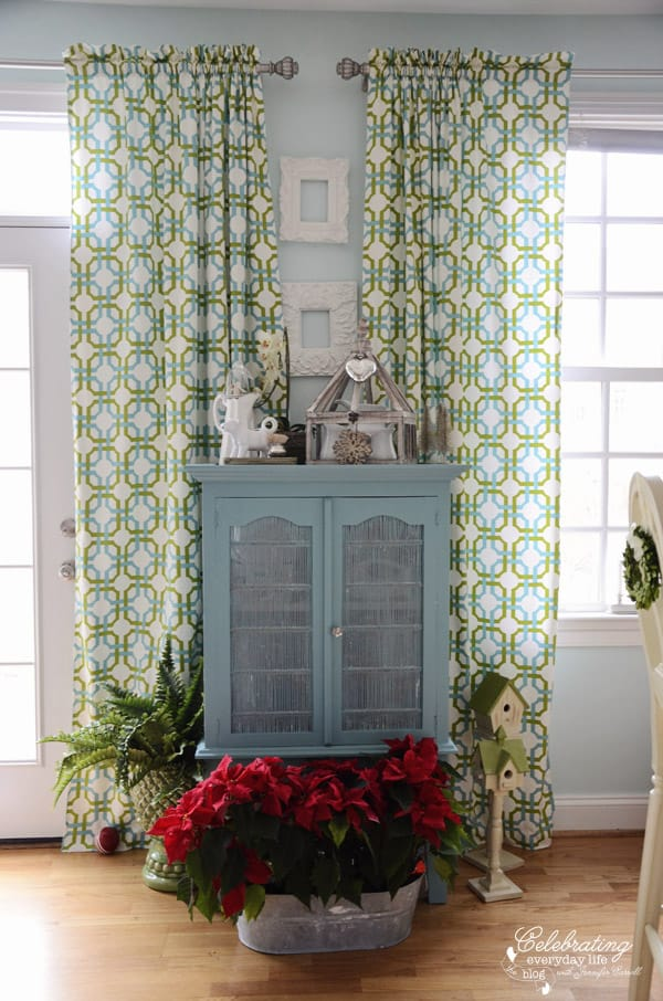 Christmas Annie Sloan Chalk Paint Provence Blue Hutch