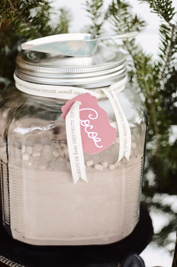 Hot Cocoa mix in a jar, hot chocolate mix in a jar