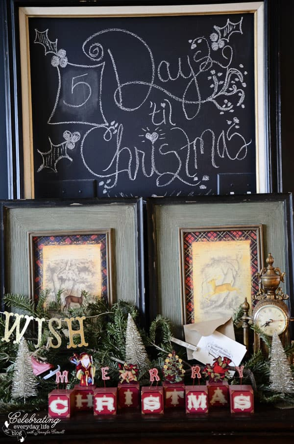Christmas Countdown Chalk Sign