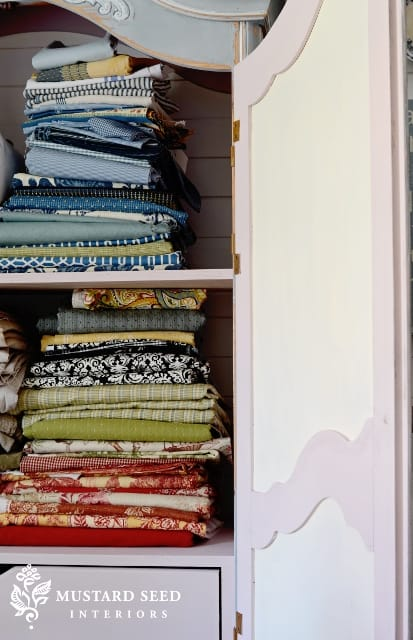 Fabric Armoire from Miss Mustard Seed