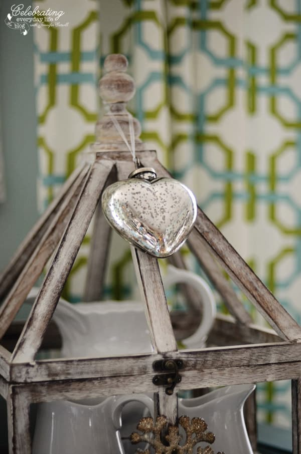 Mercury Glass Heart Ornament