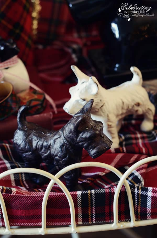 wrought Iron Scottie dogs
