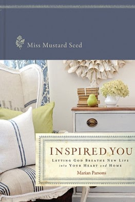Inspired You book by Miss Mustard Seed