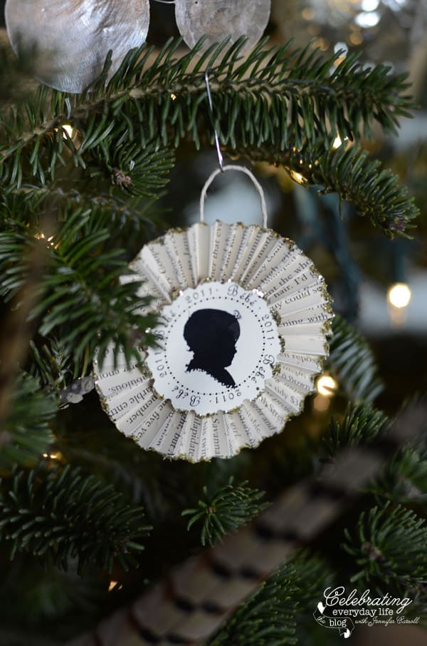 Angel Wings, Hunt Country Inspired Christmas Tree, Ralph Lauren Inspired Christmas Tree, Plaid Christmas Tree Decorations, Burlap Decorations, Believe, Pheasant Feather Christmas Tree, Capiz Shell Garland, Burlap Ribbon Garland, Vintage French Sheet Music Cones, mini trophy ornament, silhouette ornament