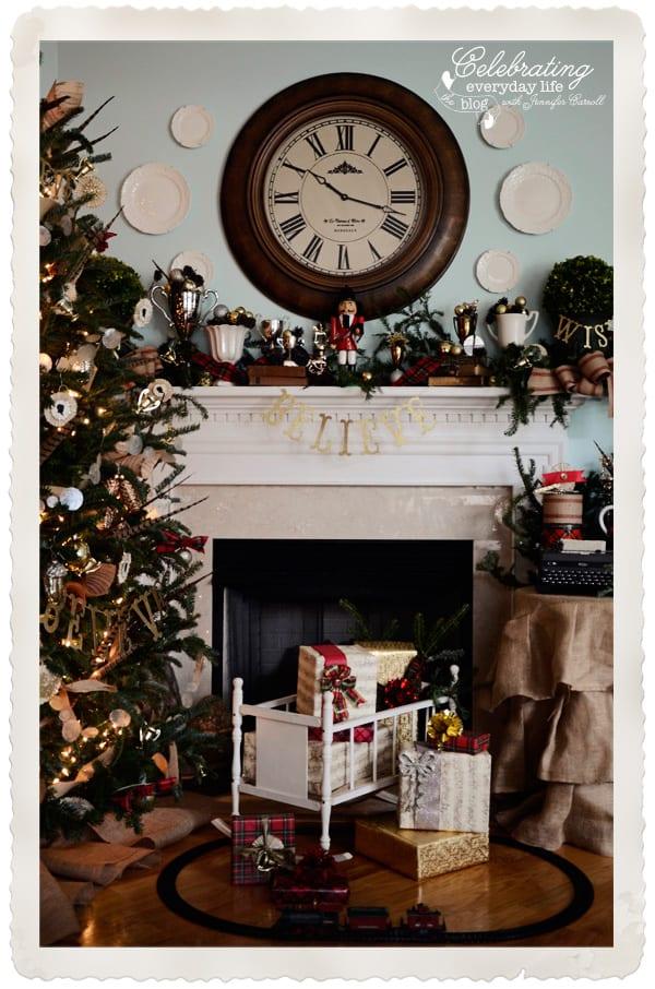 My Christmas Mantel Decorations