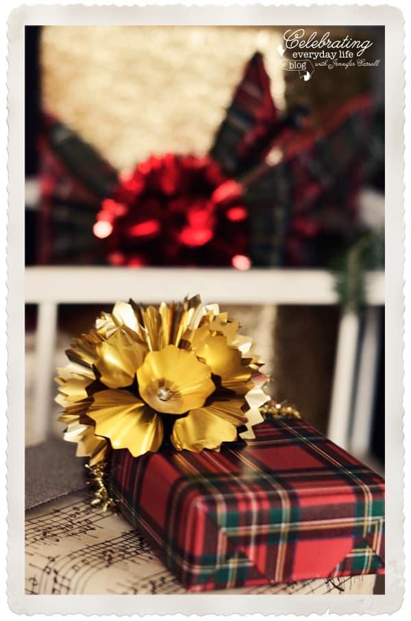 Royal Plaid Gift Wrap from Caspari, Plaid Christmas Gift Wrap