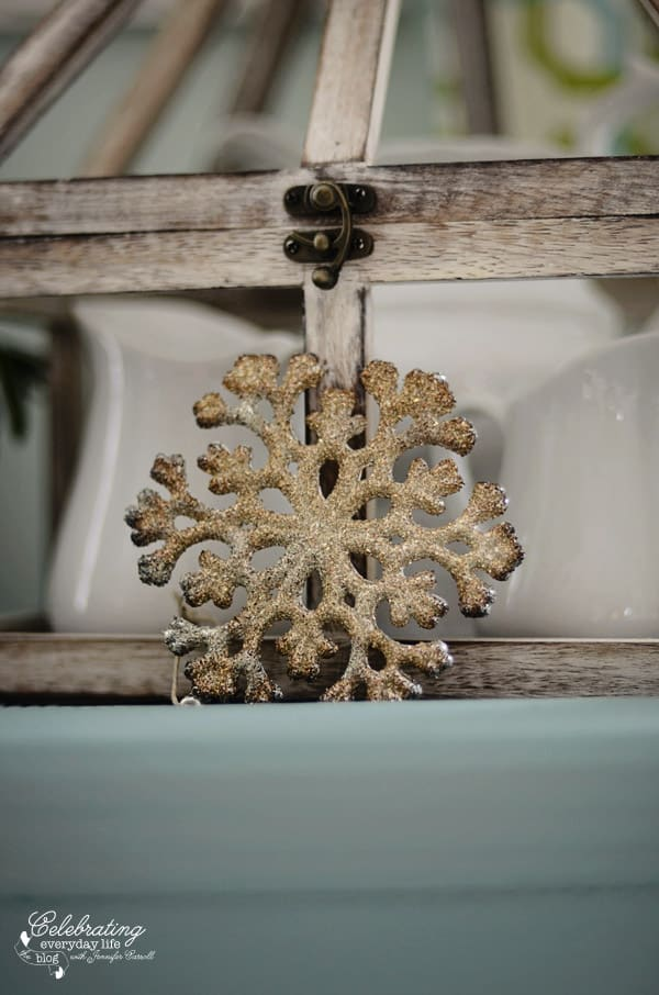 Miss Mustard Seed German Glass Snowflake ornament