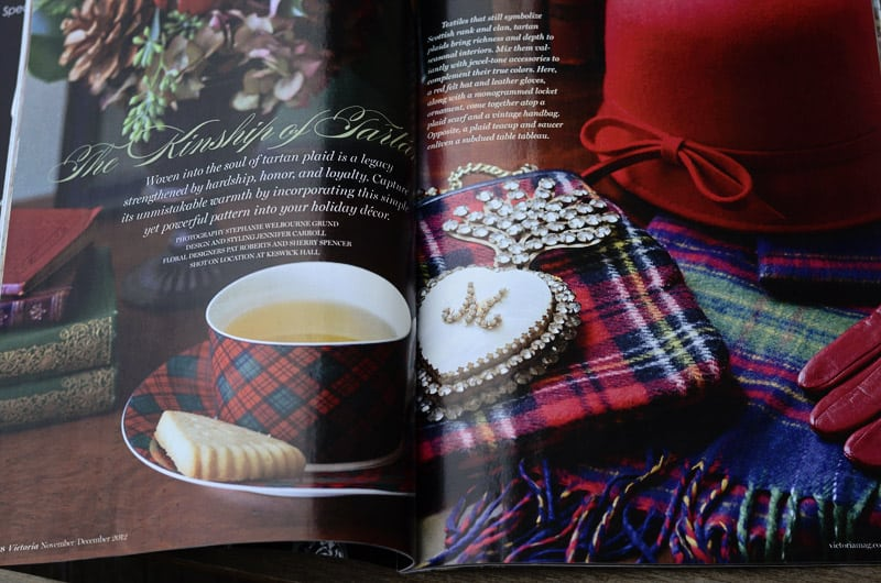 Tartan Christmas in Victoria magazine
