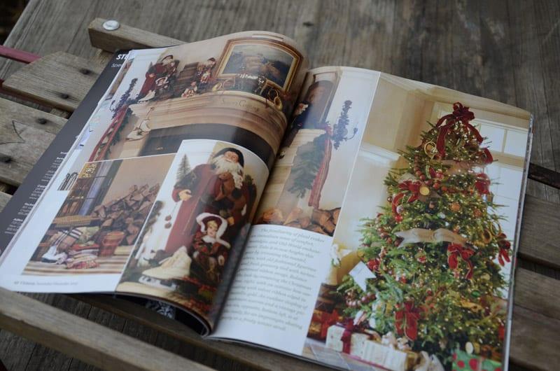Tartan Christmas Tree at Keswick Hall for November/December 2012 Victoria magazine