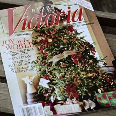 The Charms of A Tartan Christmas, Me and Victoria magazine!