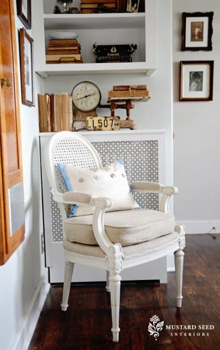 french Chair makeover by Miss Mustard Seed