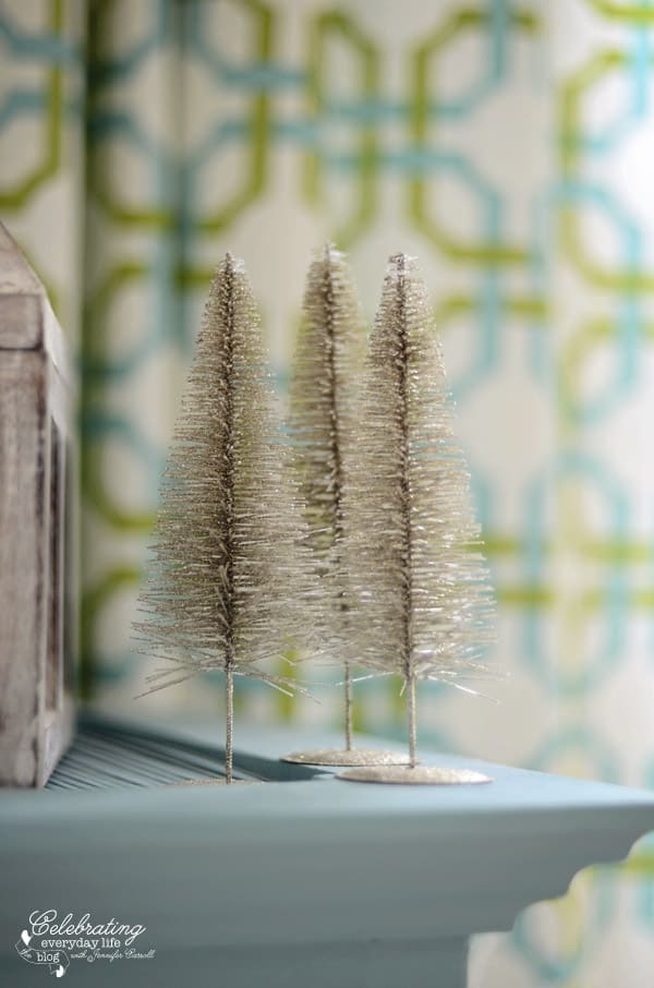 silver wire brush trees