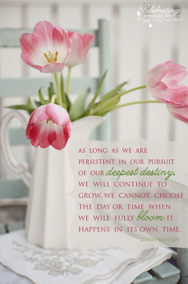 pursuit of our deepest destiny quote by Denis Waitley