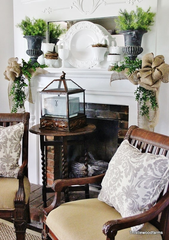 Blogs i love thistlewood farm celebrating everyday for Farmhouse fireplace decor
