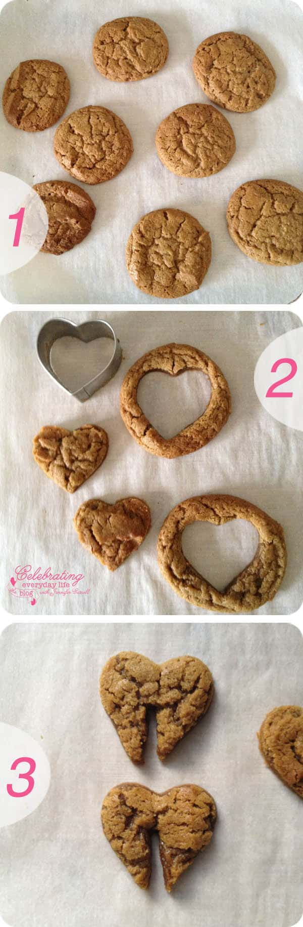 Gingerbread Hearts cookies & milk, valentine cookie treat, valentine's day, how-to make heart cookies