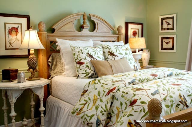 Savvy Southern Style Tropical Guest Bedroom