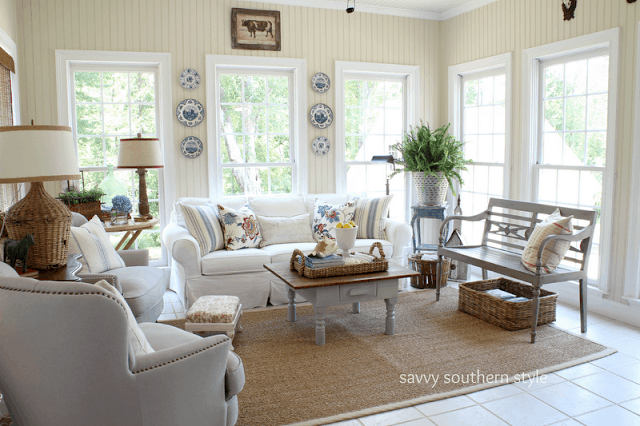 Savvy Southern Style sunroom