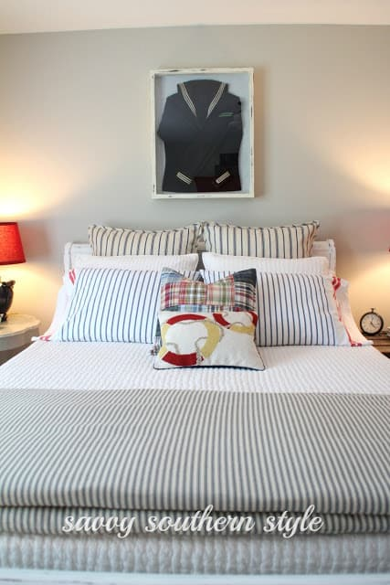 Savvy Southern Style Nautical Guest Bedroom