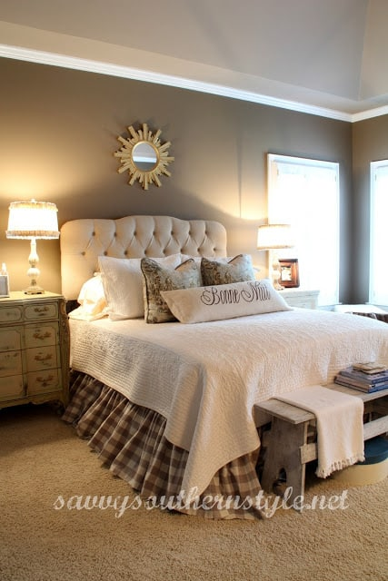 Savvy Southern Style master bedroom