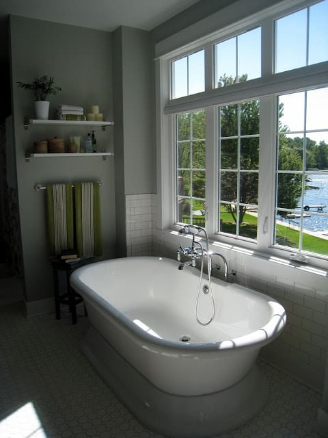 Master Bath at The Lilypad Cottage