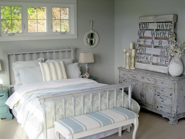 Master Bedroom at The Lilypad Cottage blog