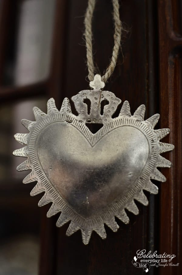 Royal Sacred Heart locket ornament