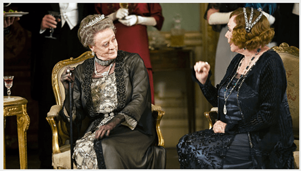 Shirley MacLaine and Maggie Smith, Downton Abbey series 3