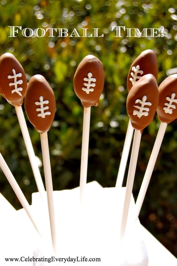 football cake pops, Superbowl recipe