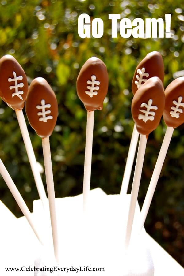 football cake pops, Superbowl recipe