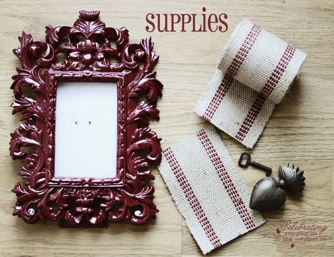 supplies for Key to My Heart artwork