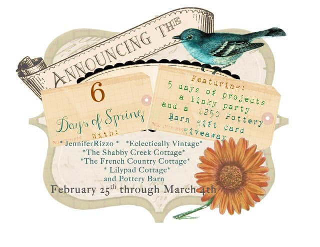 6 days of spring link party from Jennifer Rizzo.com