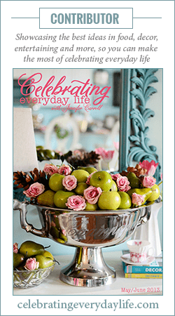 Contributor to Celebrating Everyday Life magazine button