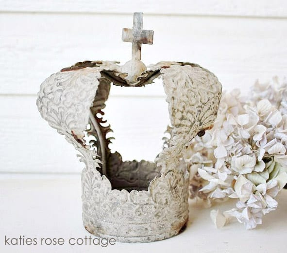 Embossed Tin Crown from Katies Rose Cottage Designs