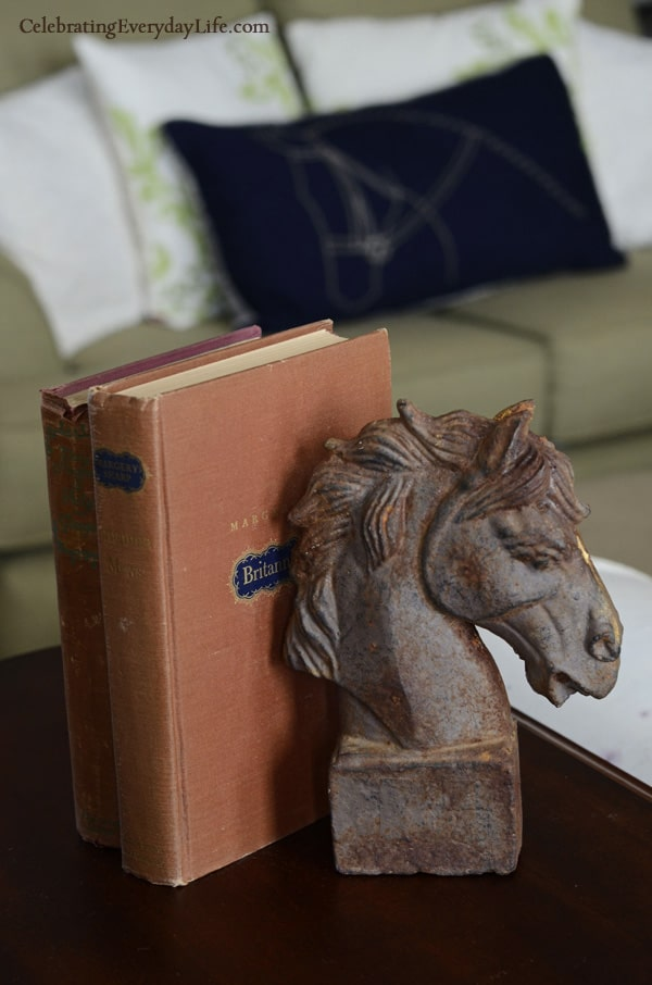 Wrough iron distressed Horse Head